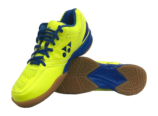 Yonex PC 30 Badminton shoes in YELLOW AND BLUE color on sale at badminton warehouse
