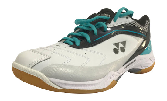 Yonex PC 65 Wide Badminton shoes in aqua color on sale at badminton warehouse