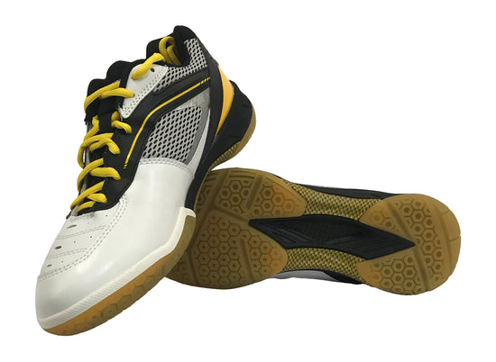 Yonex PC SHB 65 Badminton shoes in black and yellow color on sale at badminton warehouse