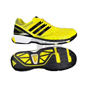 Adidas BT Feather Badminton Shoes (Black/Yellow) - Badminton Warehouse