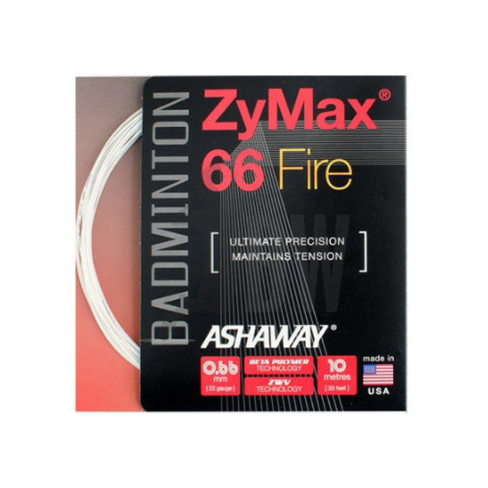 Ashaway ZyMax 66 Fire (0.66mm) Badminton String - Badminton Warehouse