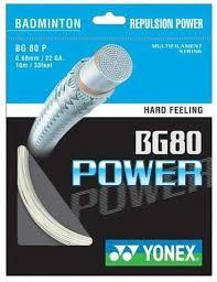 Yonex BG80 Power Badminton String in White from Badminton Warehouse