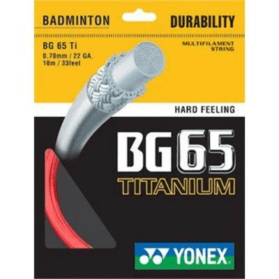 Yonex BG-65 TI Badminton String in Red from Badminton Warehouse
