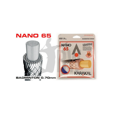 Strings - Karakal Nano 65 Badminton String