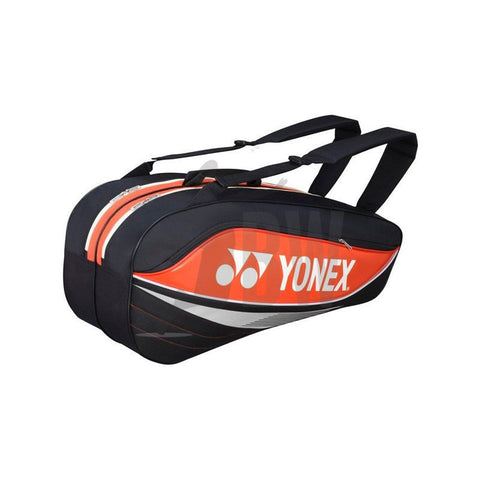 Yonex 7526 Badminton Bag Orange/Black - Badminton Warehouse