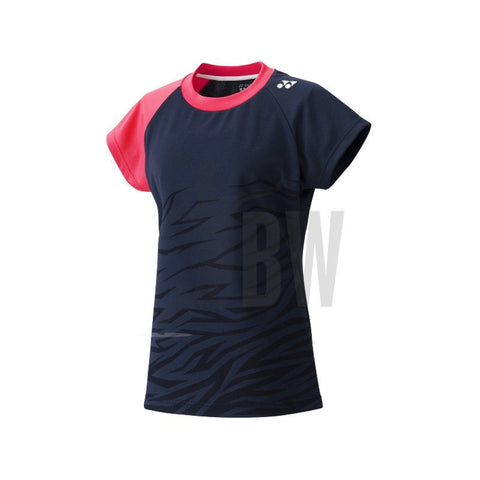 Yonex Badminton Ladies T-Shirt (Navy Blue/Pink)