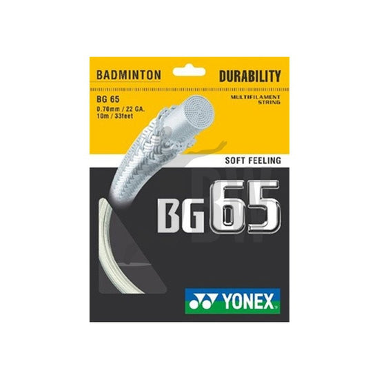 Yonex BG65 Badminton String in White from Badminton Warehouse