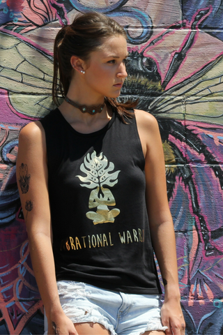 Vibrational Warrior Good Vibes Tank- Black