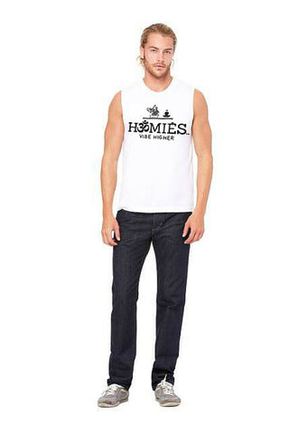 Hॐmies Men's Muscle Tank white