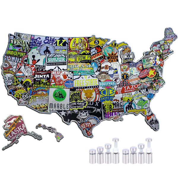 """50 States of Brew"" - USA Cutouts"