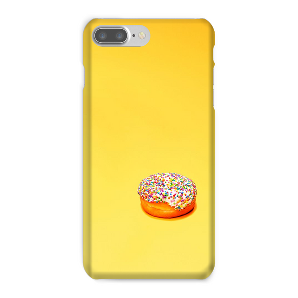 Yellow Phone Case with Donut