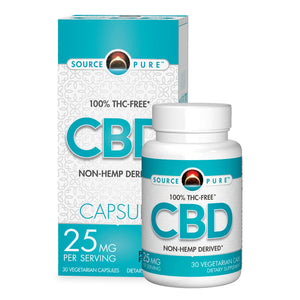 CBD - Non-Hemp Derived 30 Caps - 25mg CBD Capsule