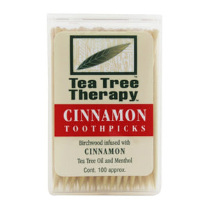 Tea Tree Therapy Toothpicks Cinnamon, 100 toothpicks