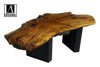 Reclaimed Spalted Maple Coffee Table with Black Base