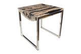 Petrified Log Slice Accent Table