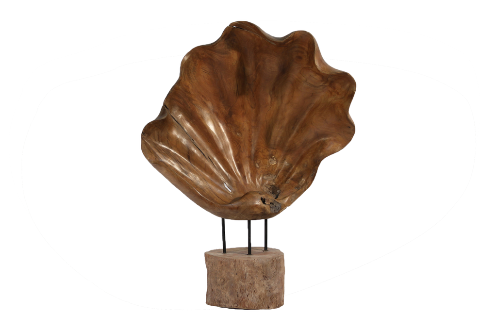 Natural Wood Shell Art Stand