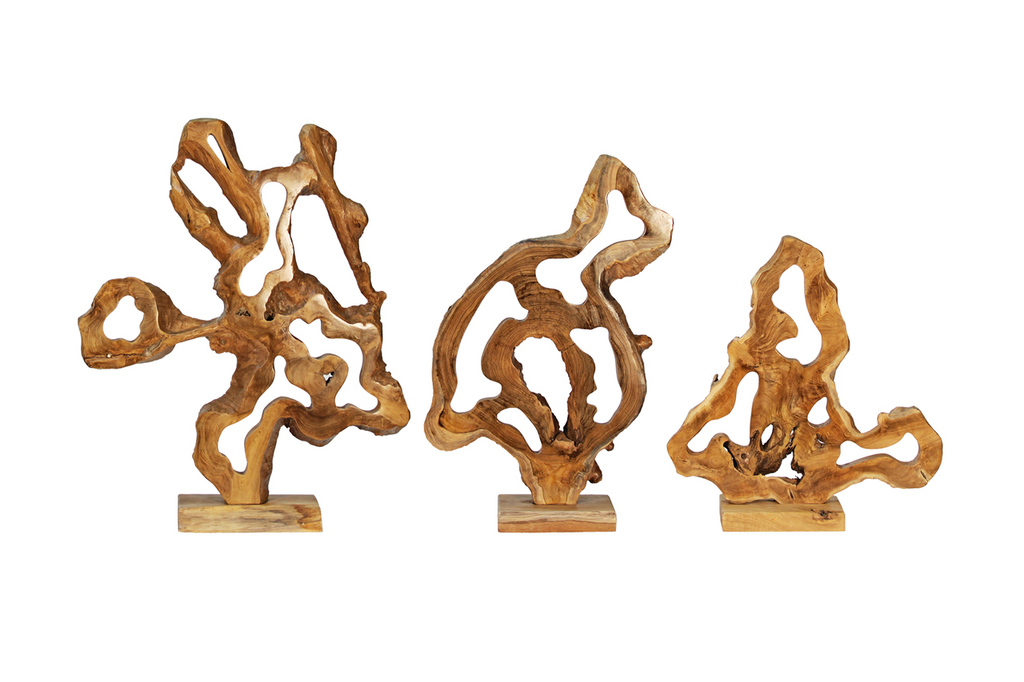 Abstract Wood Sculpture Lg.