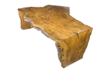Spalted Maple Live Edge Table with Maple Base