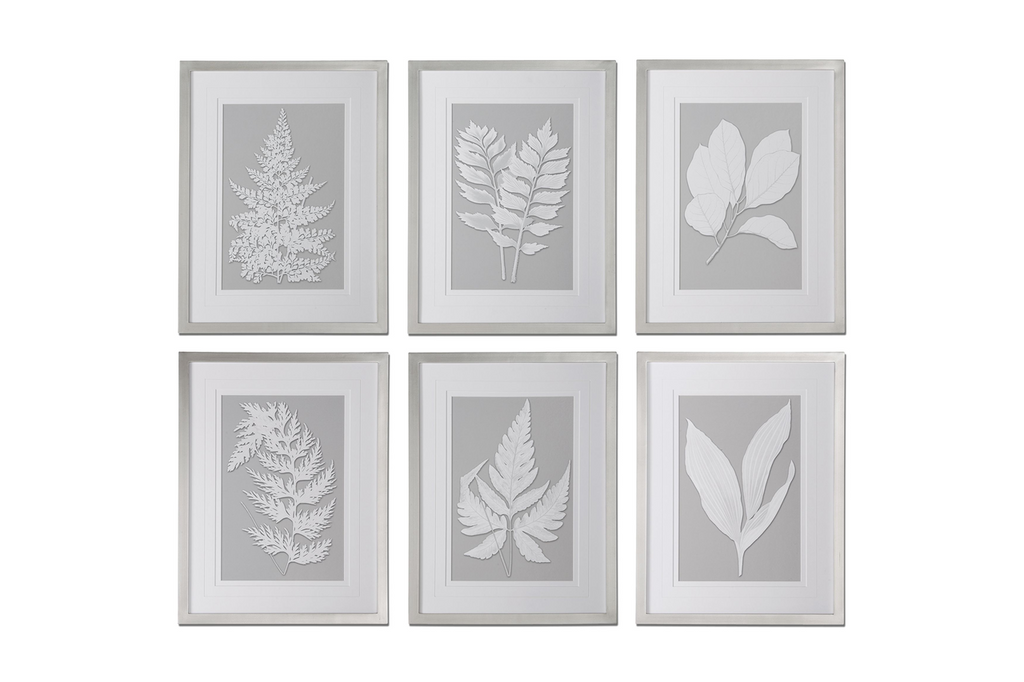 Moonlight Ferns, Set of 6