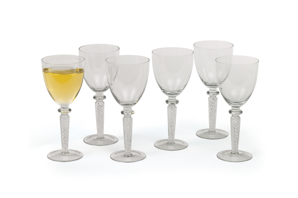 Coil White Wine Glasses, Set of 6