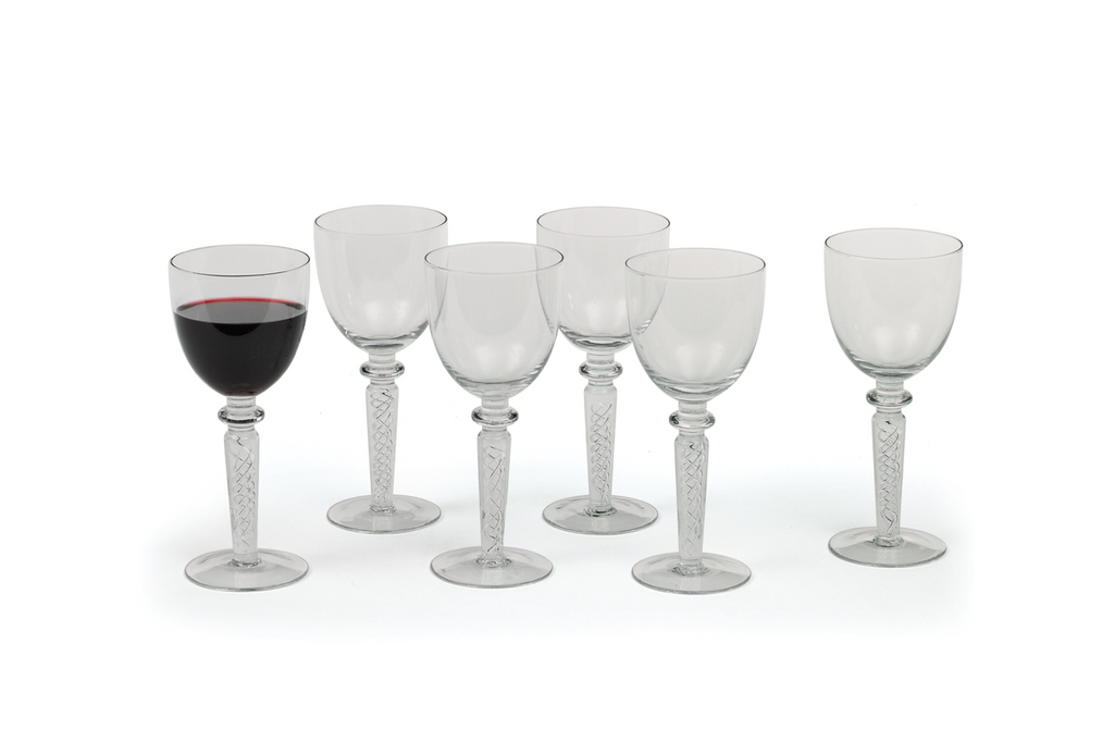 Coil Red Wine Glasses, Set of 6