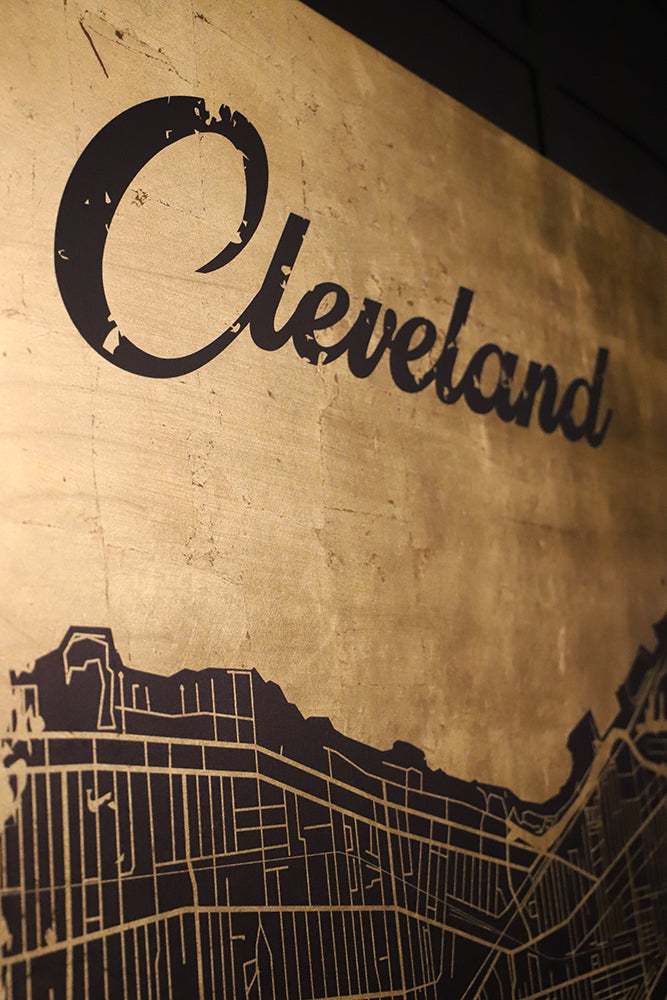 Gold Leaf Cleveland Map