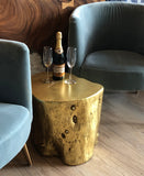 Maple Gold Leaf Accent Table