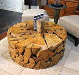 Teak Slice Coffee Table