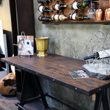 Industrial Teak Gathering Table