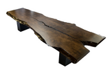 Live Edge Table/Bench with Black Base