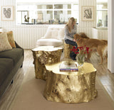 Log Cocktail Table Gold Leaf