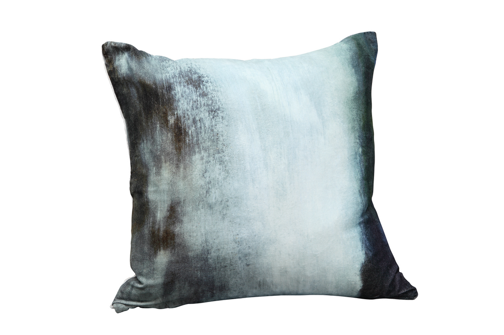 Murky Water Velvet Cushion W/ Feather Insert