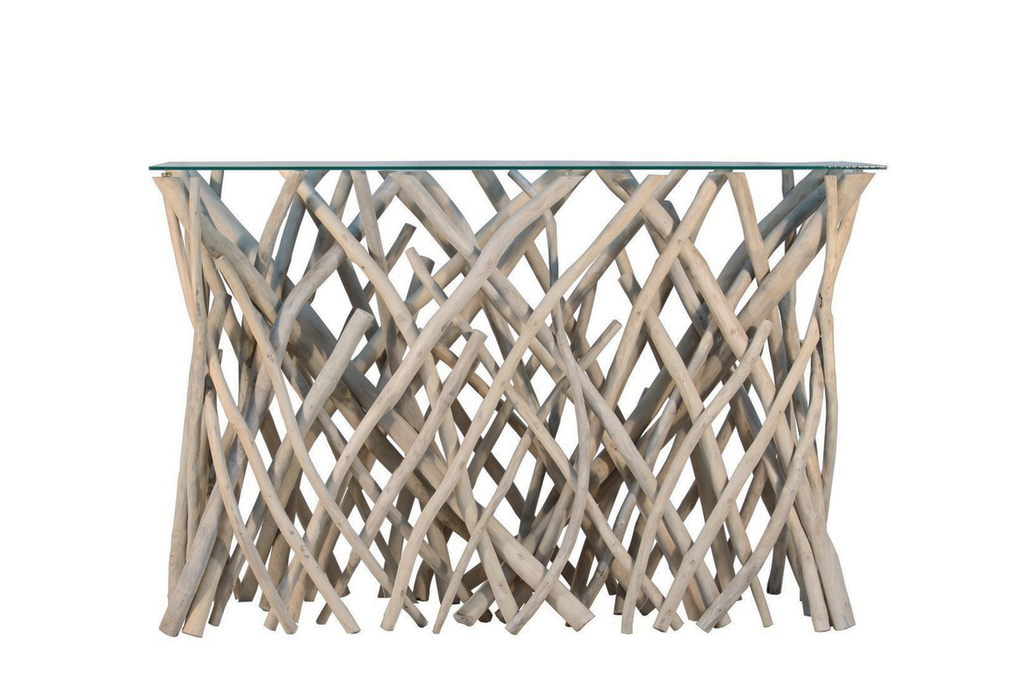 Natural Branch Console Table