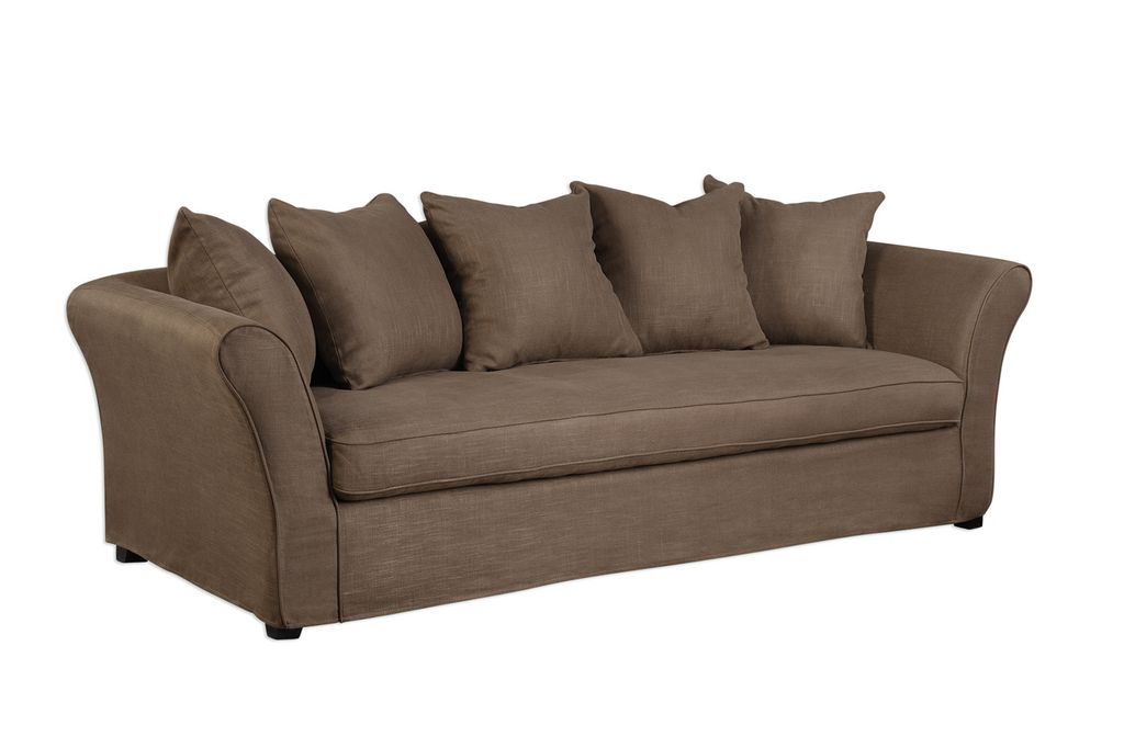 Dorset, Brown Slip Cover Sofa