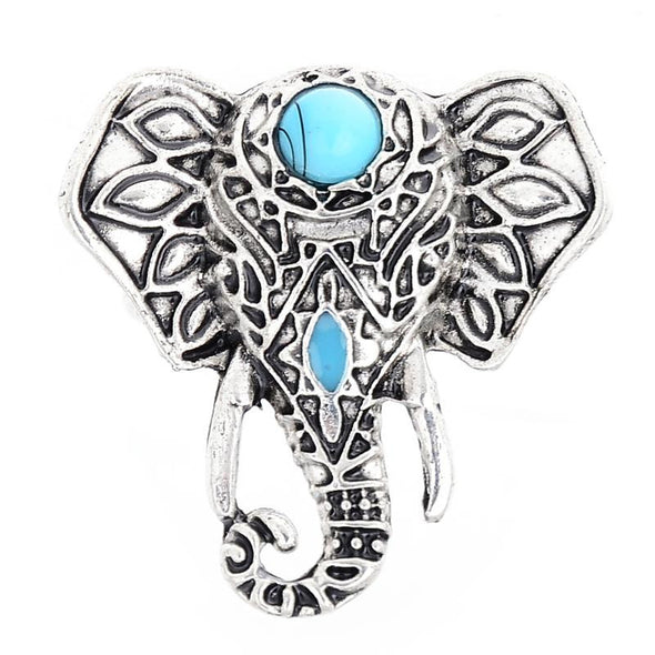 Bohemia Vintage Antique Silver Elephant Boho Rings - Hippie BLiss