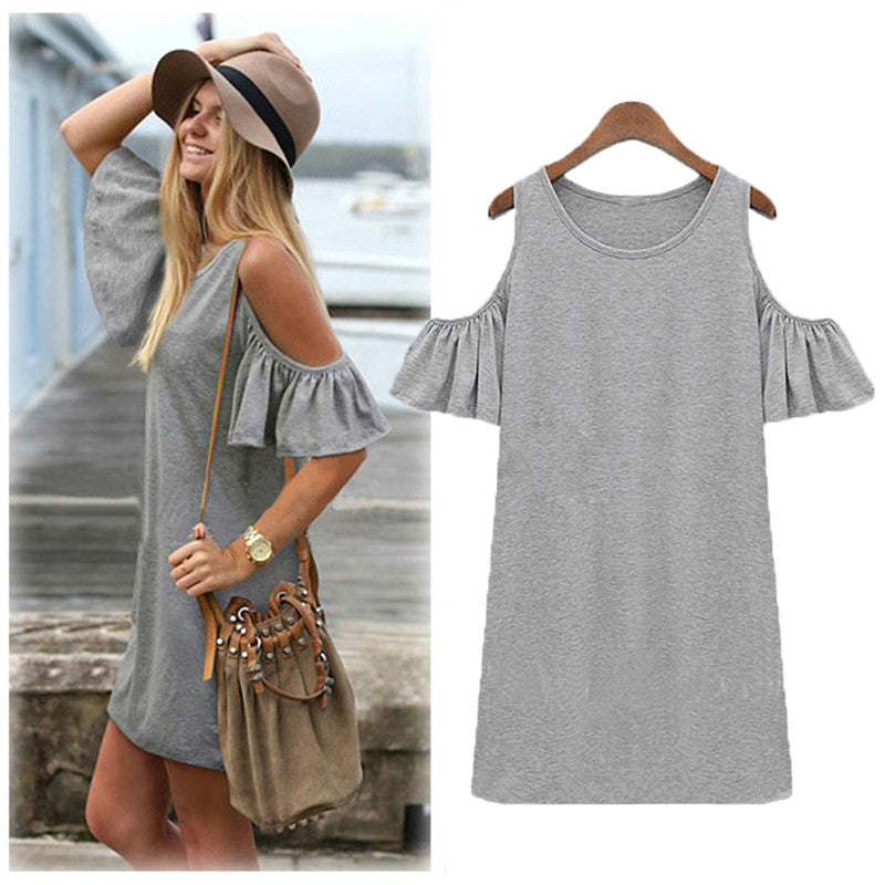 2dcdfbb01cd0 Shirt Dress Off Shoulder Dress – 🌸 BOHO JOY 🌸