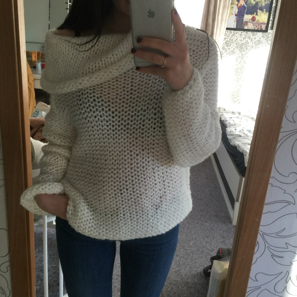 80757f6b422a83 Show Gallery. Off shoulder casual pullover sweater poncho loose knitted top  Pullovers oversized knitwear jumper
