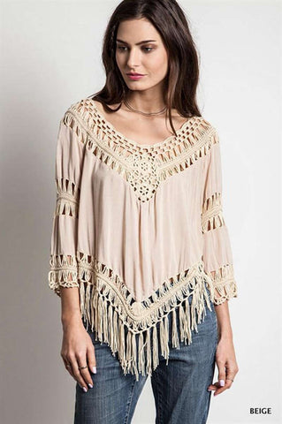 Boho Beach Crochet Blouse