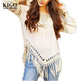Boho beach crochet blouse - Hippie BLiss