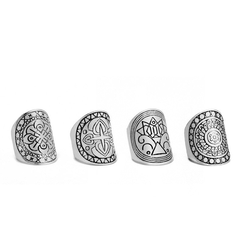 Ring Set Antique tibetan Gypsy Boho Knuckle Rings