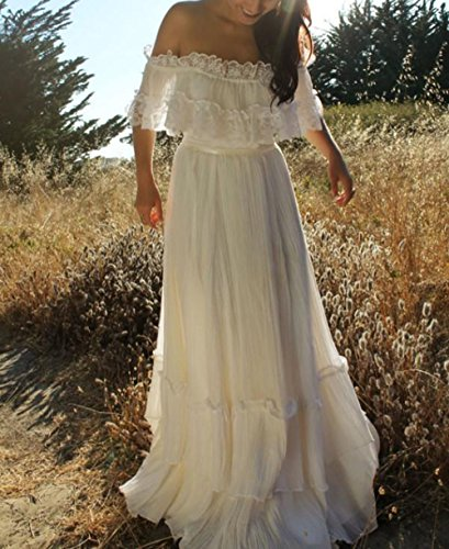 Bohemian Wedding Dress Off the Shoulder - Hippie BLiss
