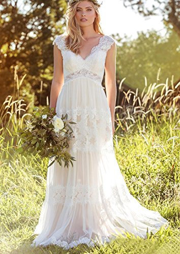 Backless Bohemian Wedding Dresses Lace Bridal Gowns - Hippie BLiss