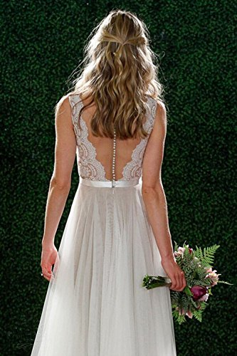 Bohemian A Line Beach Wedding Dress - Hippie BLiss