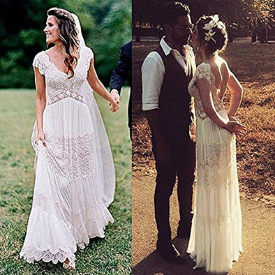 Boho Wedding Dresses Bohemian Lace Bridal Gowns - Hippie BLiss