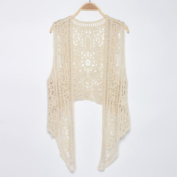 Asymmetric Open Stitch Cardigan Summer Beach Boho Hippie - Hippie BLiss