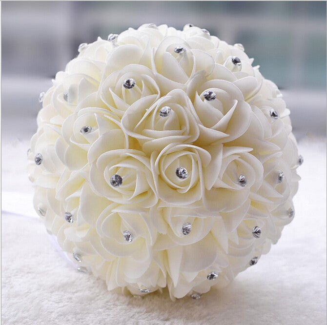 Beautiful White Ivory Bridal Flower wedding bouquet artificial ...