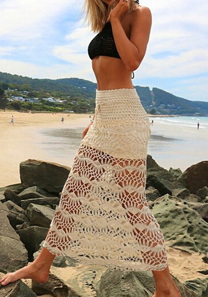 Maxi Skirt Casual Vintage Lace Crochet Boho Skirts - Hippie BLiss