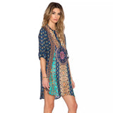 Gypsy Style Boho Chic Hippie Fashion Print Dress - Hippie BLiss