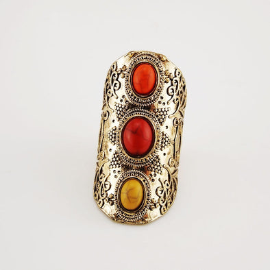 Exaggerated Retro Big Chams Boho Rings - Hippie BLiss