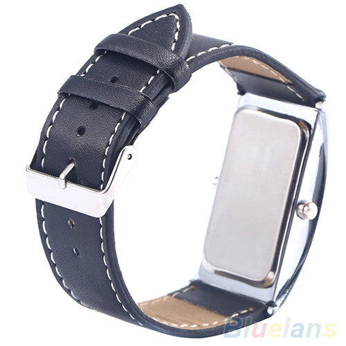 Men Arch Style LED Digital Date Faux Leather Strap Wrist Watch Wristwatch - Hippie BLiss